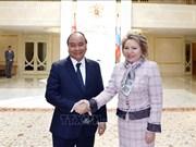 阮春福总理会见俄罗斯联邦委员会主席马特维延科
