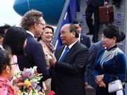 越南政府总理阮春福开始对瑞典王国进行正式访问
