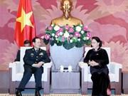 越南国会主席阮氏金银会见中国国防部部长魏凤和