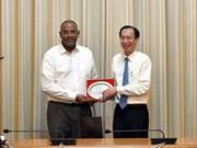 胡志明市与科特迪瓦各地方加强经济等领域合作