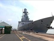 法国海军防空护卫舰对胡志明市进行友好访问