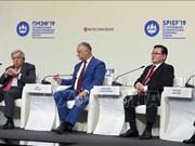 越共中央经济部部长阮文平出席圣彼得堡国际经济论坛