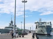 加拿大皇家海军抵达金兰港 开始对越南进行访问