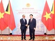 范平明外长同东帝汶外交与合作部部长举行会谈