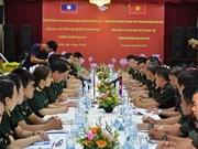 越南与老挝两国军队青年军官加强合作与交流