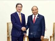 越南政府总理阮春福会见韩越议员友好小组主席金贺勇