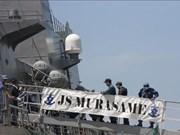 日本海上自卫队两艘军舰访问越南金兰湾港口