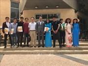 越南数百名学生获以色列农业研究中心授予的结业证书
