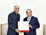 阮春福总理会见即将离任的印度驻越南大使