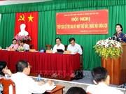 国会主席阮氏金银在芹苴市宁桥郡开展选民接待活动