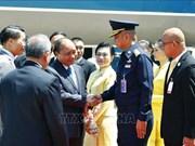 越南政府总理阮春福抵达曼谷 开始出席第34届东盟峰会系列活动