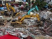 柬埔寨一在建七层建筑倒塌致多人伤亡