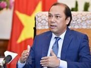 外交部副部长阮国勇就第34届东盟峰会取得的成果接受记者的采访
