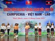 加强柬越老青年学生团结友谊