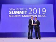 越南外贸股份商业银行荣获威士国际组织安全保障冠军奖