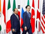越南政府总理阮春福会见日本一流科技企业领导代表