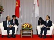 越南政府总理阮春福 会见日越友好议员联盟主席二阶俊博
