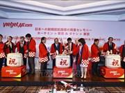 阮春福出席越南飞往日本两条直达航线开通仪式