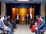 阮春福总理与日本领先集团领导举行座谈会