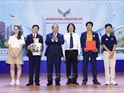 阮春福总理参观广义省国际教育城