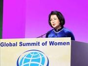 越南国家副主席邓氏玉盛率团出席第 29 届全球妇女峰会