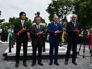 胡志明主席塑像在俄罗斯符拉迪沃斯托克市落成
