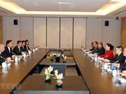 越南国会主席阮氏金银会见中国企业代表