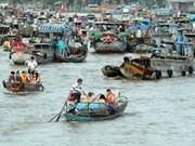 芹苴市努力保护与发展盖朗水上集市