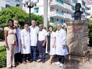 古巴儿科和癌症专家赴广平省工作