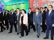 越南国会主席阮氏金银参观中国中关村科技会展中心