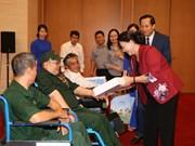 国会主席阮氏金银会见全国模范伤残军人代表