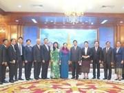 胡志明市高级代表团访问老挝