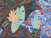 文盛画家的第八次个人画展亮相胡志明市