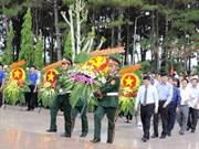 2018-2019旱季得乐省对在柬牺牲的17具越南烈士遗骸收迁安葬