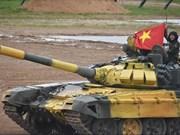 越南人民军坦克赛队做好准备参加国际军事赛会