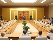 越南政府总理阮春福会见抗美救国时期支援南方战地公安干部联络部代表团