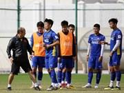 越南国足队为2019年亚洲杯备赛进行训练(组图)