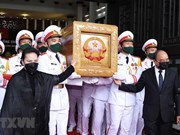 组图:原越共中央总书记黎可漂追悼大会和安葬仪式隆重举行