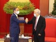 组图:越共中央总书记、国家主席阮富仲会见日本首相菅义伟