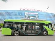 组图:VinBus开发的越南首个智能电动公交车投入运营