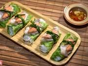 组图:生菜糯米酒娘虾肉卷——河内解热美食