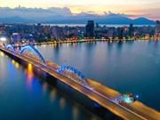组图:岘港市在实施社交距离措施期间的美丽夜景