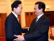 越南领导接见日本议员代表团