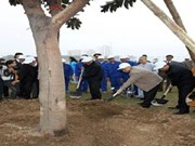 阮富仲总书记参与植树节启动仪式