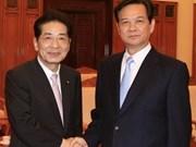 越南领导会见日本客人