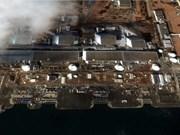 日本福岛第一核电站四号反应堆发生起火