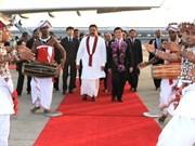 国家主席张晋创与斯里兰卡总统举行会谈