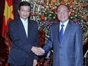 越南国会主席阮生雄会见老挝和日本驻越大使