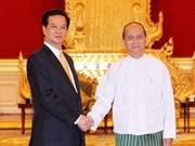 越南政府总理阮晋勇与缅甸总统举行会谈