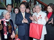 越南党和国家领导在广南省和首都河内考察